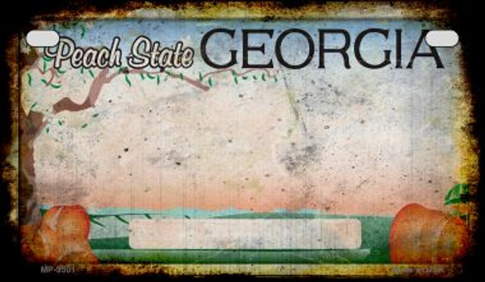 Georgia Rusty Blank Background Novelty Metal Motorcycle Plate MP-9501