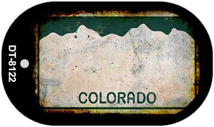 Colorado Rusty Blank Background Novelty Metal Dog Tag Necklace DT-8122