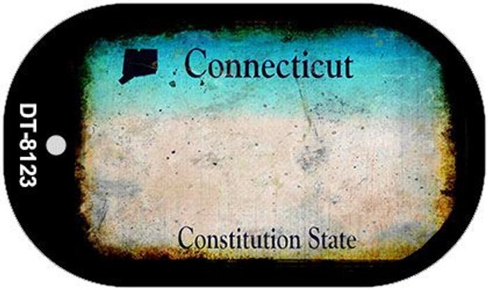 Connecticut Rusty Blank Background Novelty Metal Dog Tag Necklace DT-8123