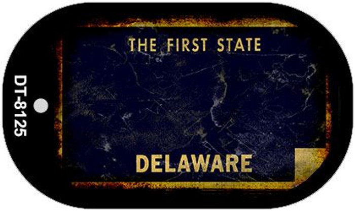 Delaware Rusty Blank Background Novelty Metal Dog Tag Necklace DT-8125