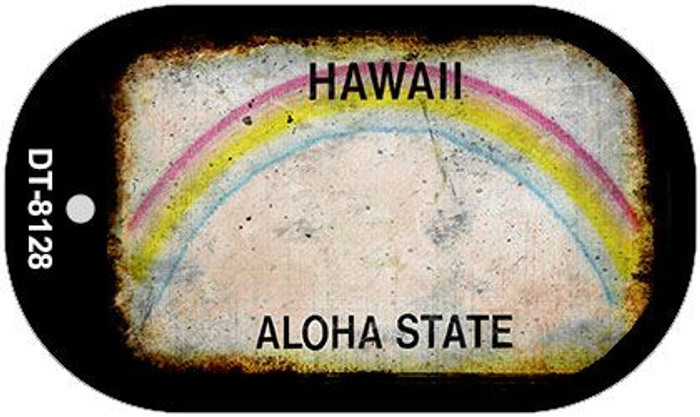 Hawaii Rusty Blank Background Novelty Metal Dog Tag Necklace DT-8128