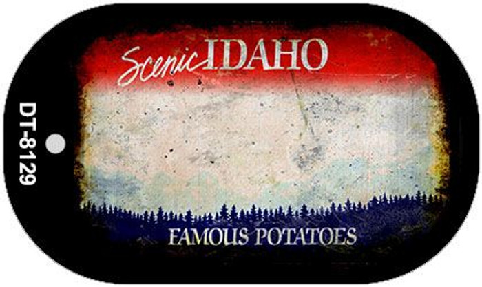 Idaho Rusty Blank Background Novelty Metal Dog Tag Necklace DT-8129
