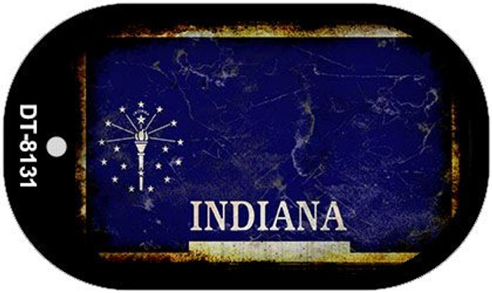 Indiana Rusty Blank Background Novelty Metal Dog Tag Necklace DT-8131