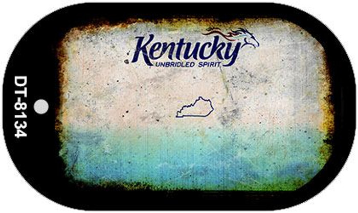 Kentucky Rusty Blank Background Novelty Metal Dog Tag Necklace DT-8134