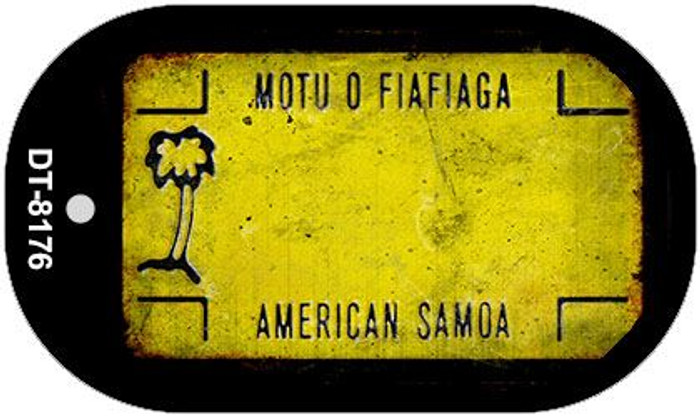 American Samoa Rusty Blank Background Novelty Metal Dog Tag Necklace DT-8176