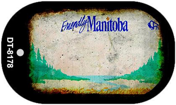 Manitoba Rusty Blank Background Novelty Metal Dog Tag Necklace DT-8178
