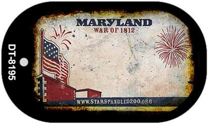 Maryland Rusty Blank Background Novelty Metal Dog Tag Necklace DT-8195