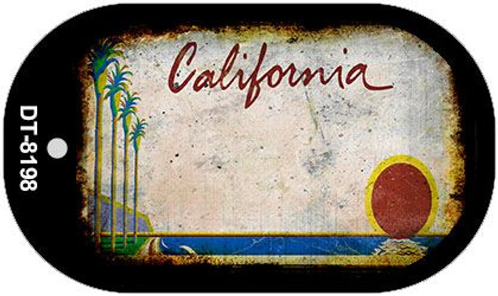 California Rusty Blank Background Novelty Metal Dog Tag Necklace DT-8198