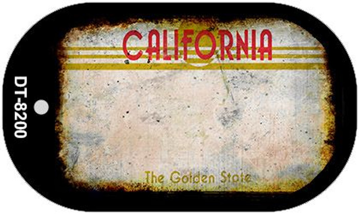 California Rusty Blank Background Novelty Metal Dog Tag Necklace DT-8200