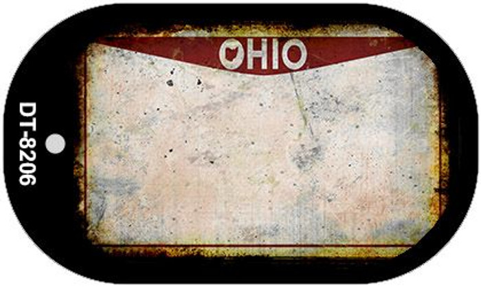 Ohio Rusty Blank Background Novelty Metal Dog Tag Necklace DT-8206