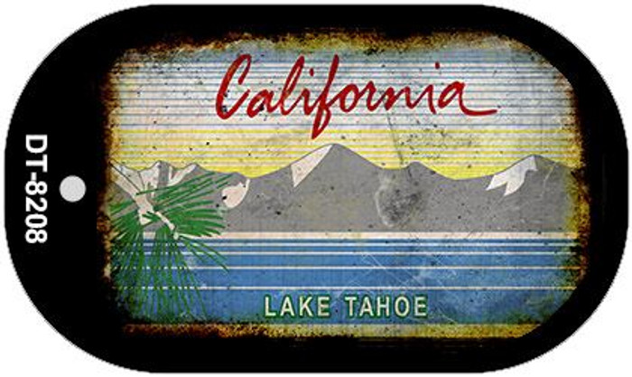 California Lake Tahoe Rusty Blank Background Novelty Metal Dog Tag Necklace DT-8208