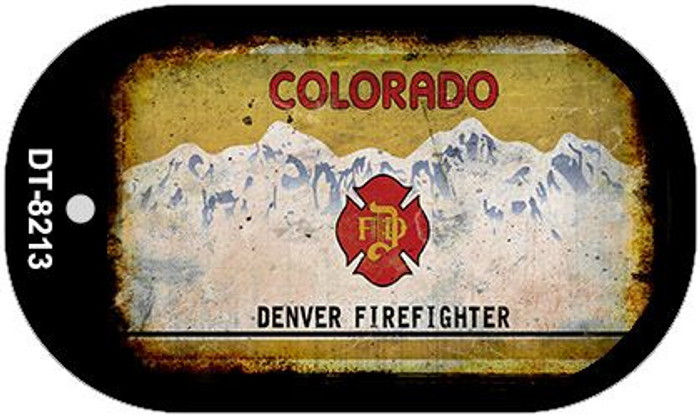 Colorado Denver Firefighter Rusty Blank Background Novelty Metal Dog Tag Necklace DT-8213