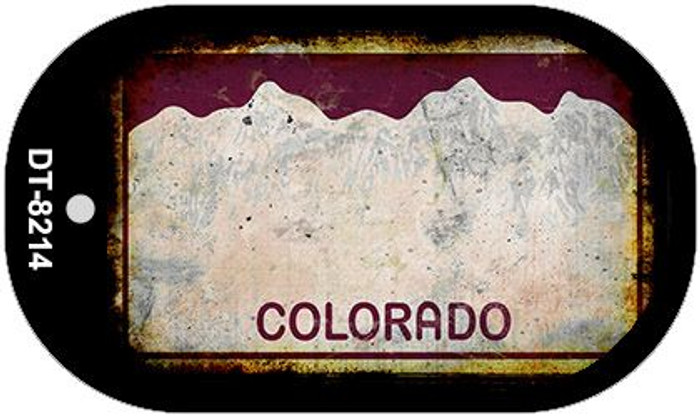 Colorado Rusty Blank Background Novelty Metal Dog Tag Necklace DT-8214