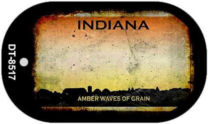 Indiana Rusty Blank Background Novelty Metal Dog Tag Necklace DT-8517