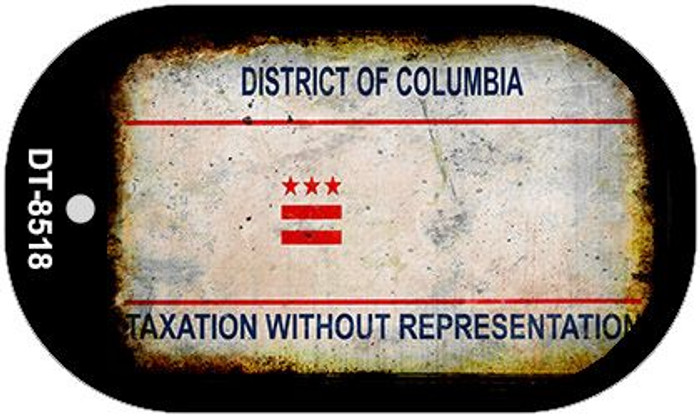 District of Columbia Rusty Blank Background Novelty Metal Dog Tag Necklace DT-8518