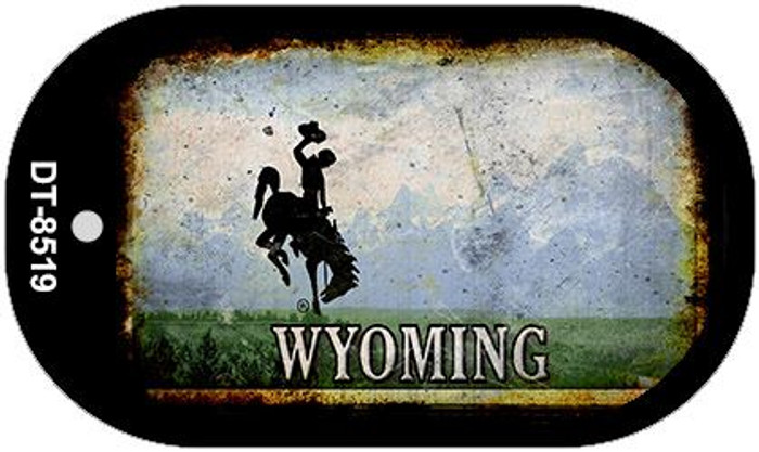 Wyoming Rusty Blank Background Novelty Metal Dog Tag Necklace DT-8519