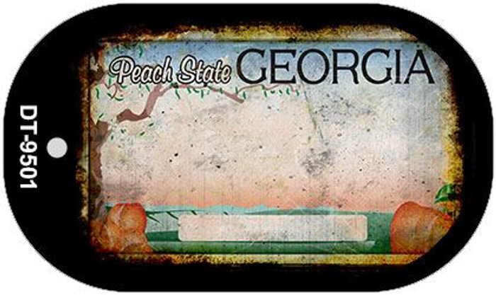 Georgia Rusty Blank Background Novelty Metal Dog Tag Necklace DT-9501