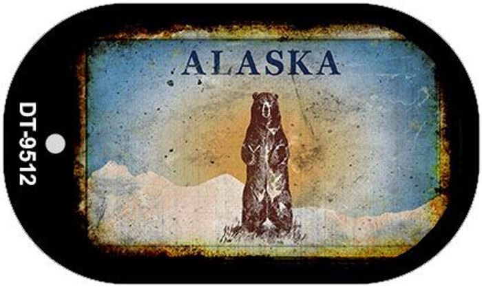 Alaska Bear Rusty Blank Background Novelty Metal Dog Tag Necklace DT-9512
