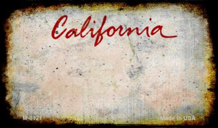 California Rusty Blank Background Novelty Magnet M-8121