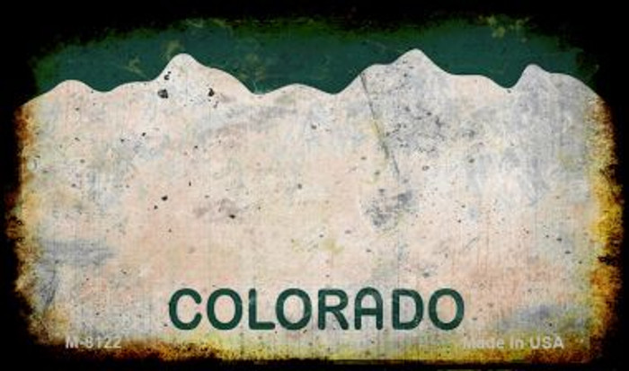 Colorado Rusty Blank Background Novelty Magnet M-8122