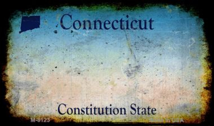 Connecticut Rusty Blank Background Novelty Magnet M-8123