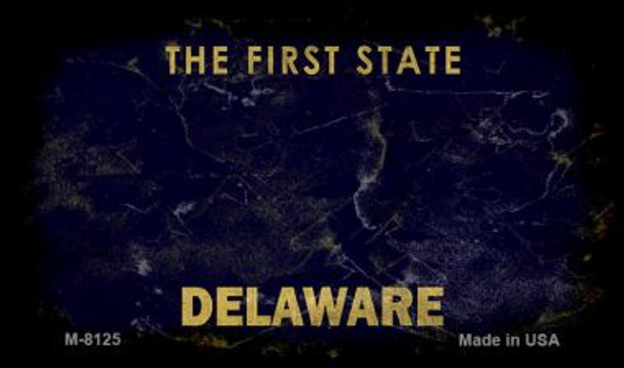 Delaware Rusty Blank Background Novelty Magnet M-8125