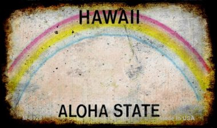 Hawaii Rusty Blank Background Novelty Magnet M-8128