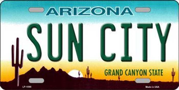 Sun City Arizona Novelty Metal License Plate