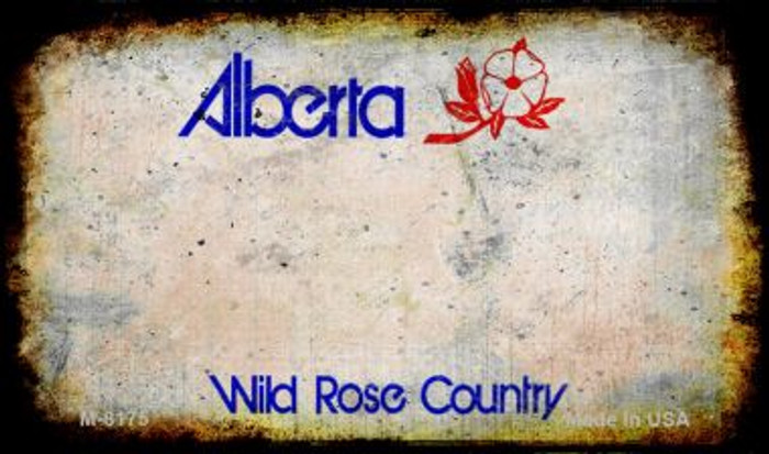 Alberta Rusty Blank Background Novelty Magnet M-8175