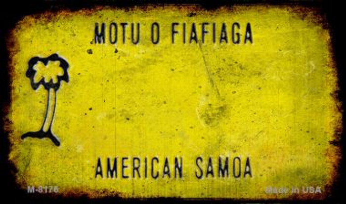 American Samoa Rusty Blank Background Novelty Magnet M-8176