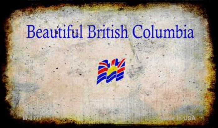 British Columbia Rusty Blank Background Novelty Magnet M-8177