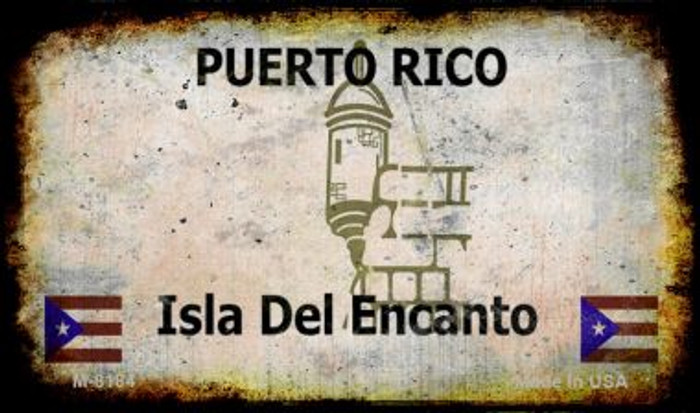 Puerto Rico Rusty Blank Background Novelty Magnet M-8184