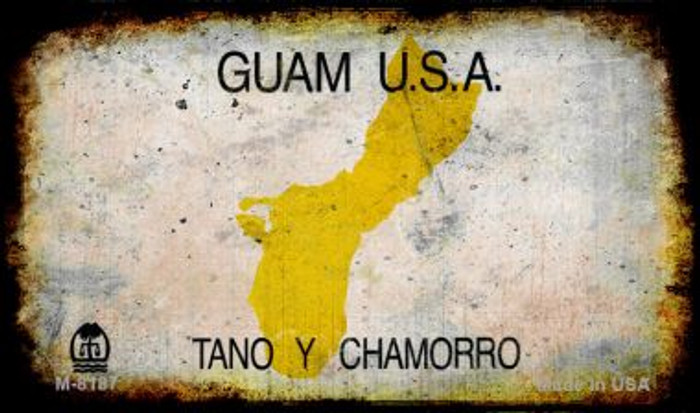 Guam Rusty Blank Background Novelty Magnet M-8187