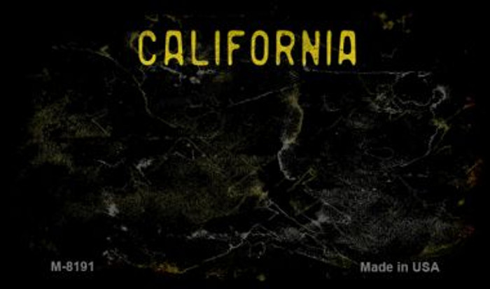 California Black Rusty Blank Background Novelty Magnet M-8191