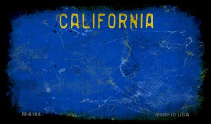 California Blue Rusty Blank Background Novelty Magnet M-8194