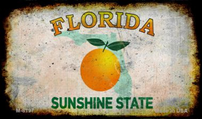 Florida Rusty Blank Background Novelty Magnet M-8197