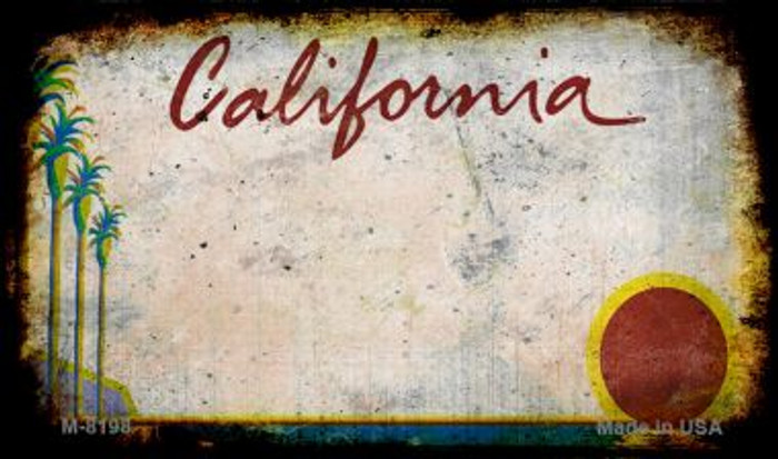 California Rusty Blank Background Novelty Magnet M-8198