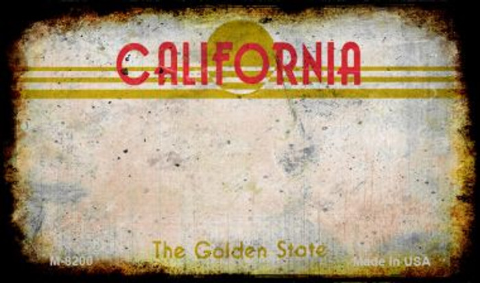 California Rusty Blank Background Novelty Magnet M-8200