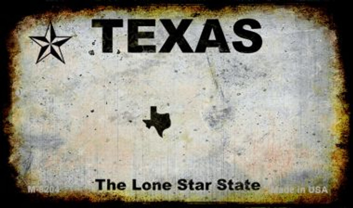 Texas Rusty Blank Background Novelty Magnet M-8204