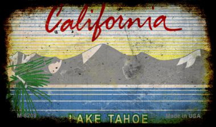 California Lake Tahoe Rusty Blank Background Novelty Magnet M-8208