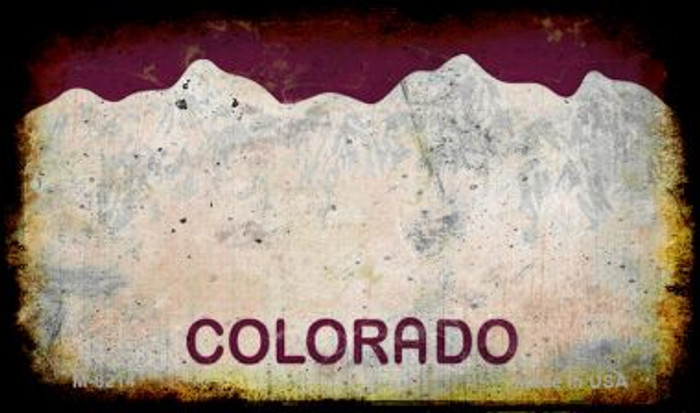 Colorado Rusty Blank Background Novelty Magnet M-8214
