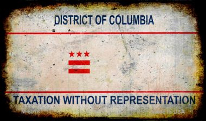 District of Columbia Rusty Blank Background Novelty Magnet M-8518