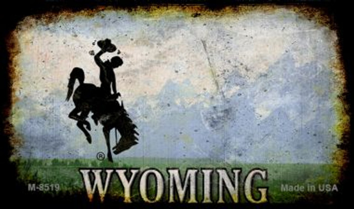 Wyoming Rusty Blank Background Novelty Magnet M-8519