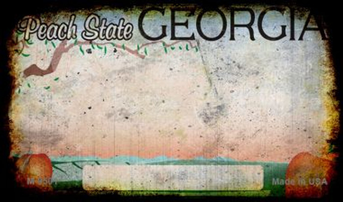 Georgia Rusty Blank Background Novelty Magnet M-9501