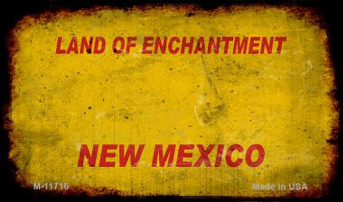 New Mexico Rusty Blank Background Novelty Magnet M-11716