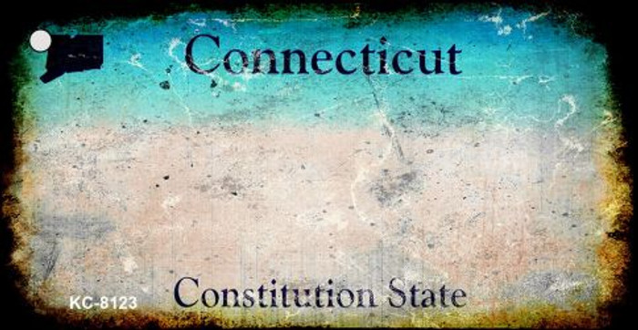 Connecticut Rusty Blank Background Wholesale Key Chain KC-8123