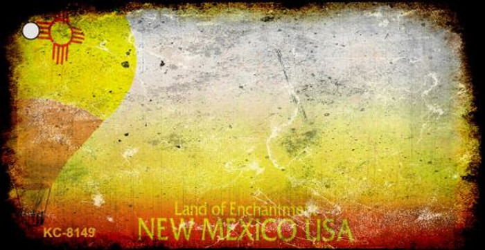 New Mexico Rusty Blank Background Wholesale Key Chain KC-8149