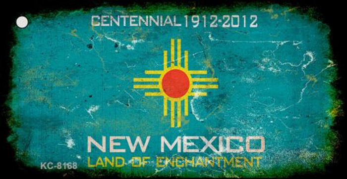 New Mexico Rusty Blank Background Wholesale Key Chain KC-8168