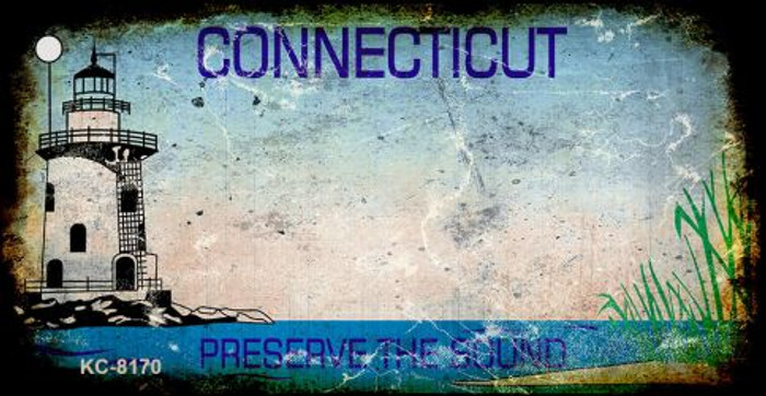 Connecticut Rusty Blank Background Wholesale Key Chain KC-8170