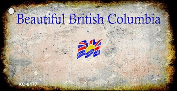 British Columbia Rusty Blank Background Wholesale Key Chain KC-8177